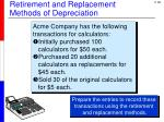 retirement and replacement methods of depreciation2