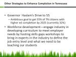 other strategies to enhance completion in tennessee1