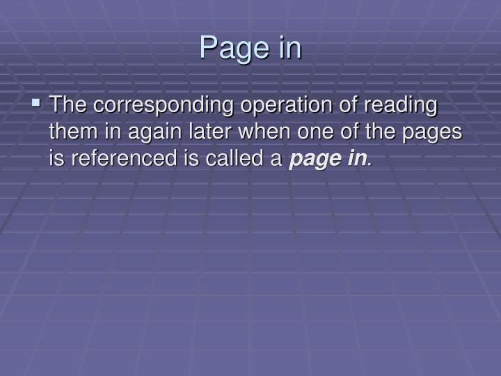 Page in