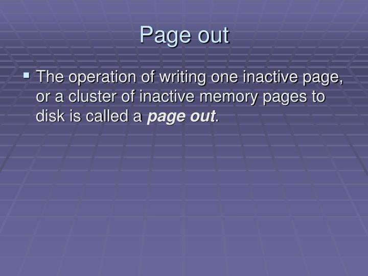 Page out