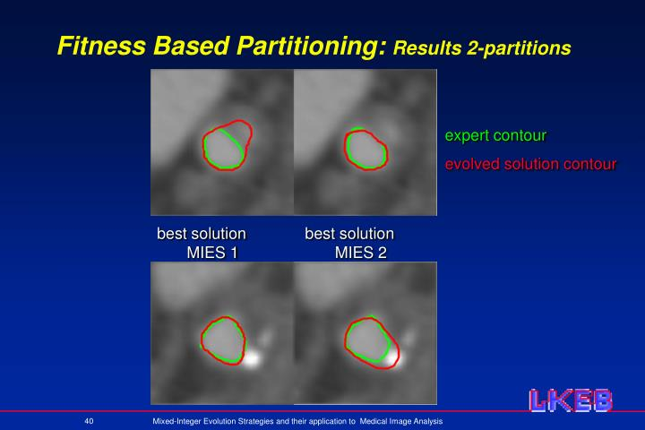 Fitness Based Partitioning: