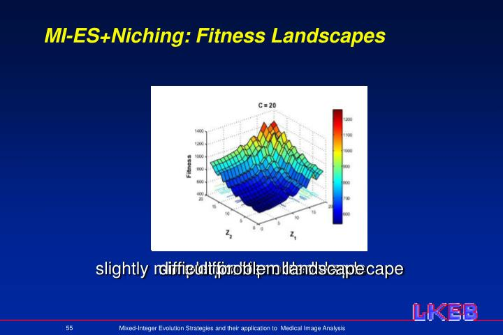 MI-ES+Niching: Fitness Landscapes