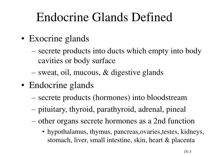 Endocrine Glands Defined