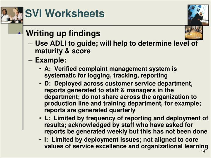SVI Worksheets