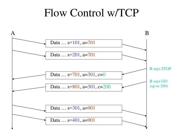 Flow Control w/TCP