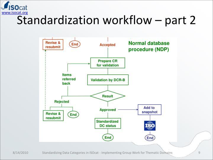 Standardization workflow – part 2