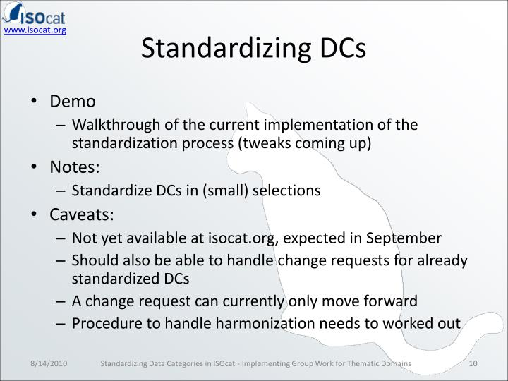 Standardizing DCs