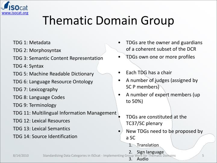 Thematic Domain Group