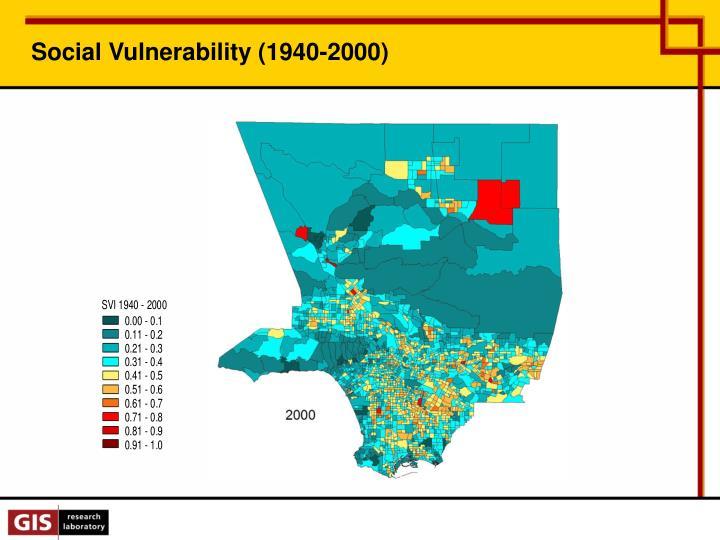 Social Vulnerability (1940-2000)