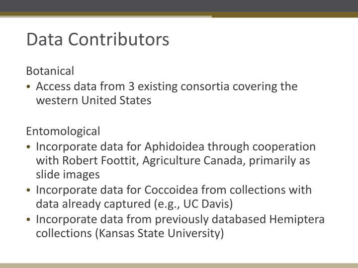 Data Contributors