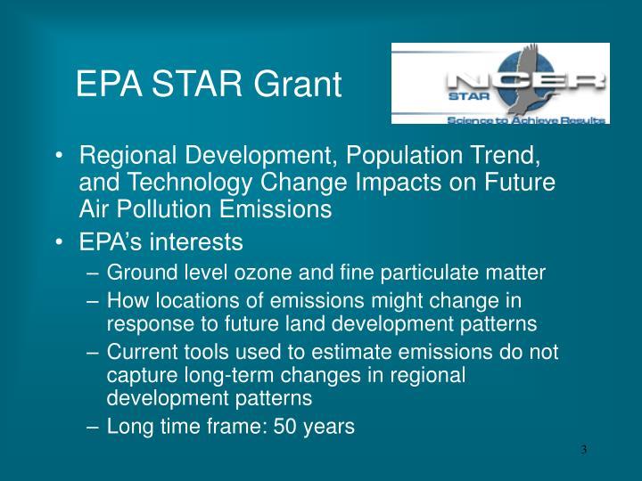 EPA STAR Grant