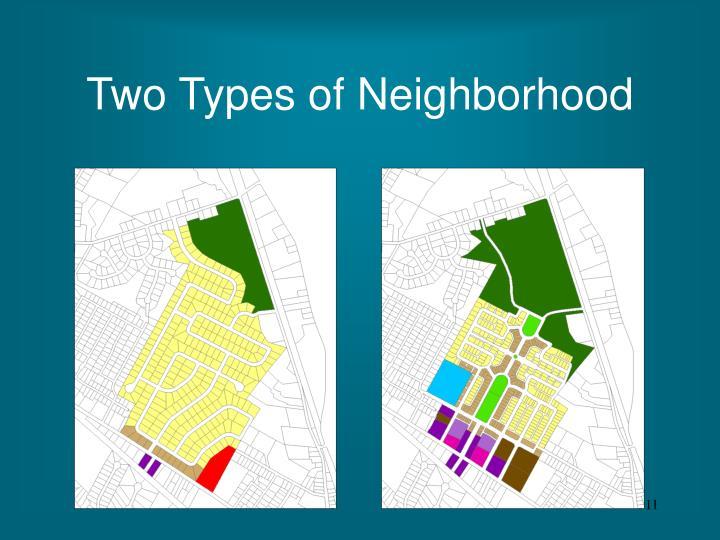 Two Types of Neighborhood