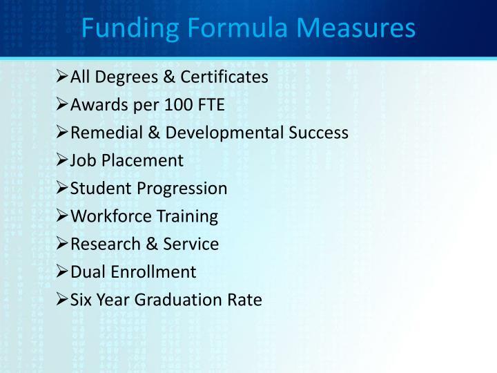 Funding Formula Measures
