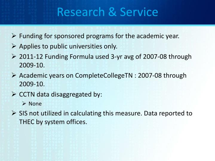 Research & Service
