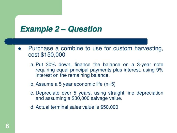 Example 2 – Question