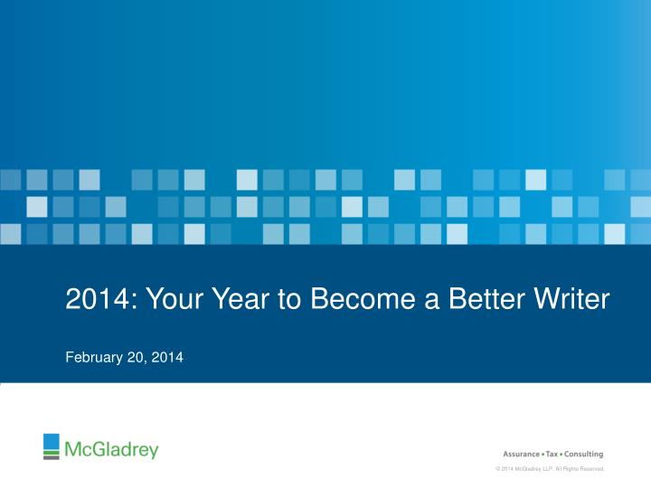2014 your year to become a better writer