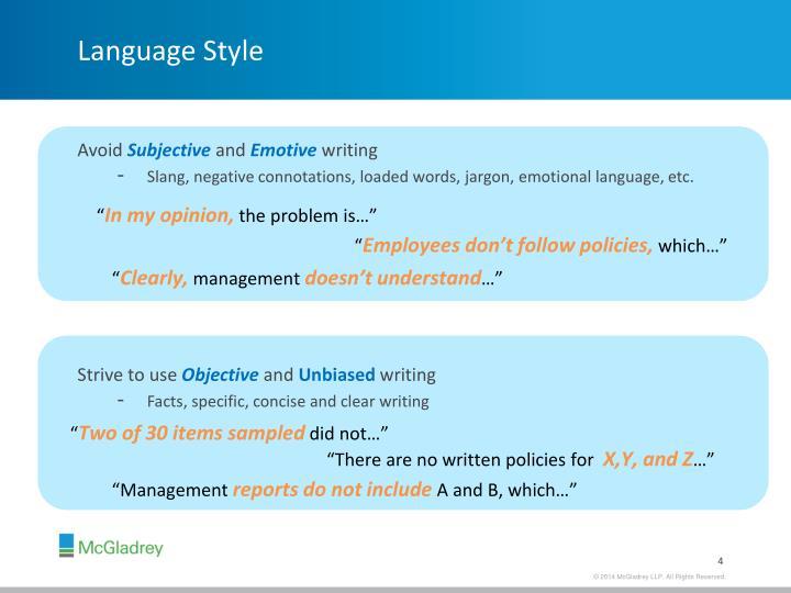Language Style