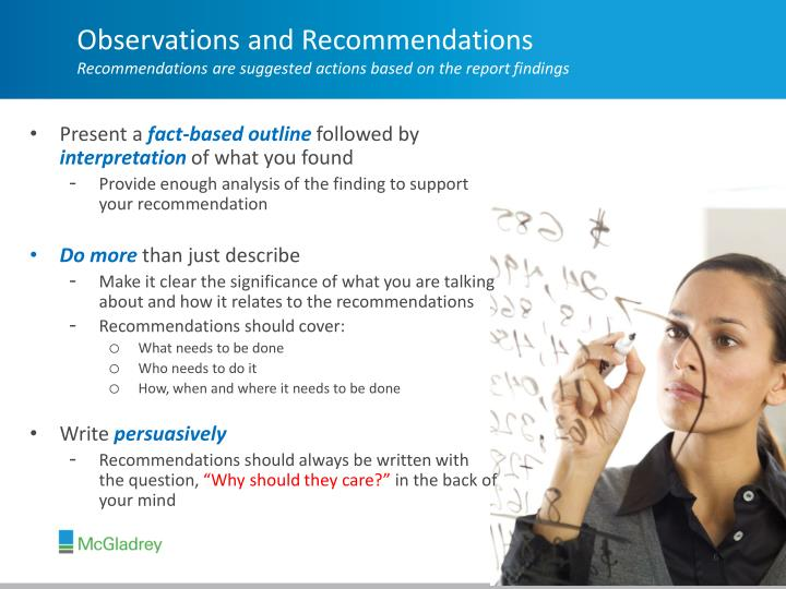 Observations and Recommendations