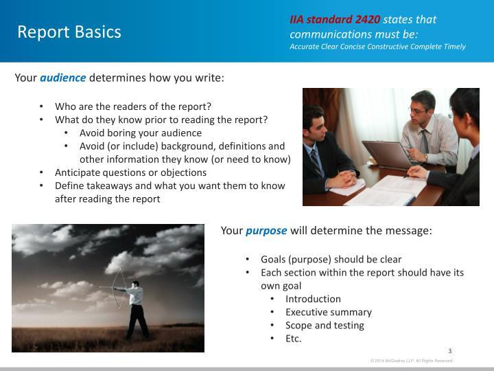 Report Basics