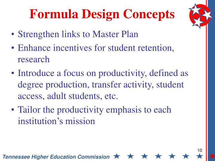 Formula Design Concepts