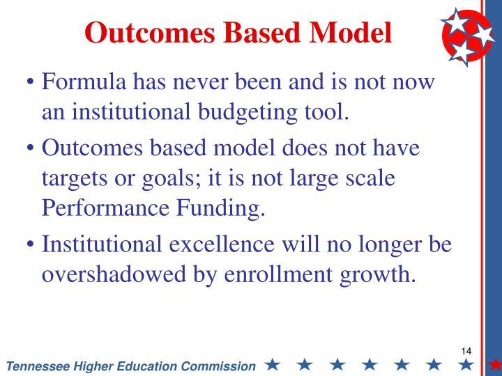 Outcomes Based Model