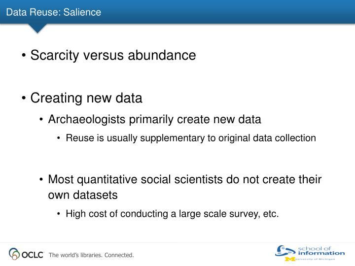 Data Reuse: Salience