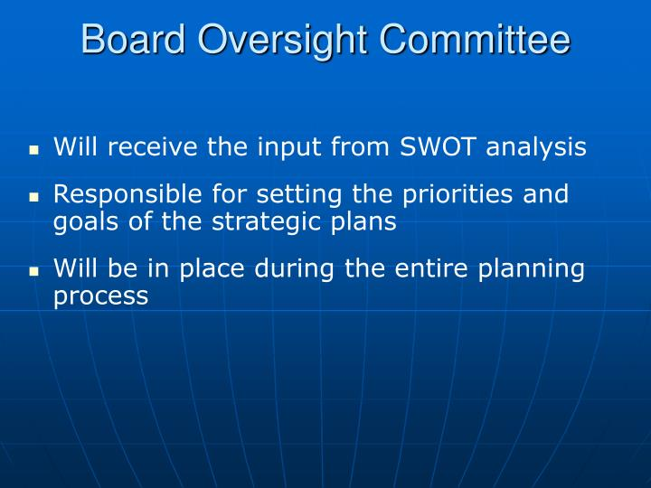 Board Oversight Committee