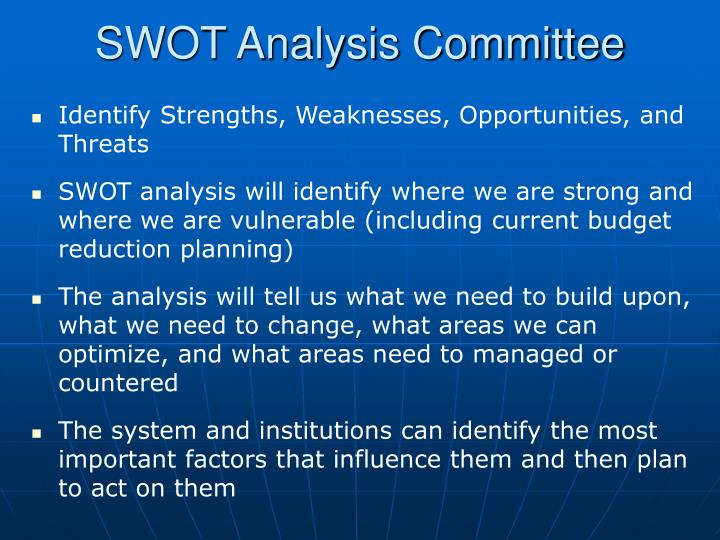 SWOT Analysis Committee