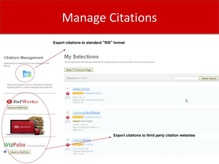 Manage Citations