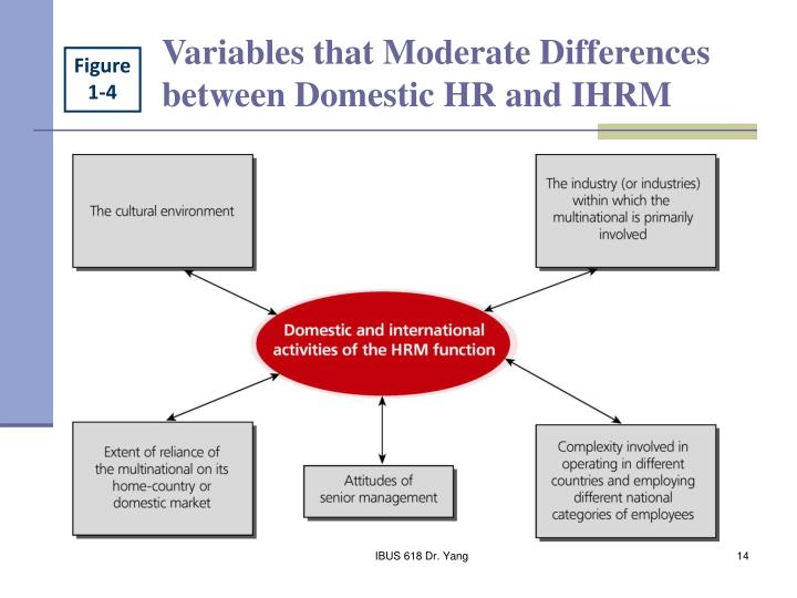 Variables that Moderate Differences between Domestic HR and IHRM