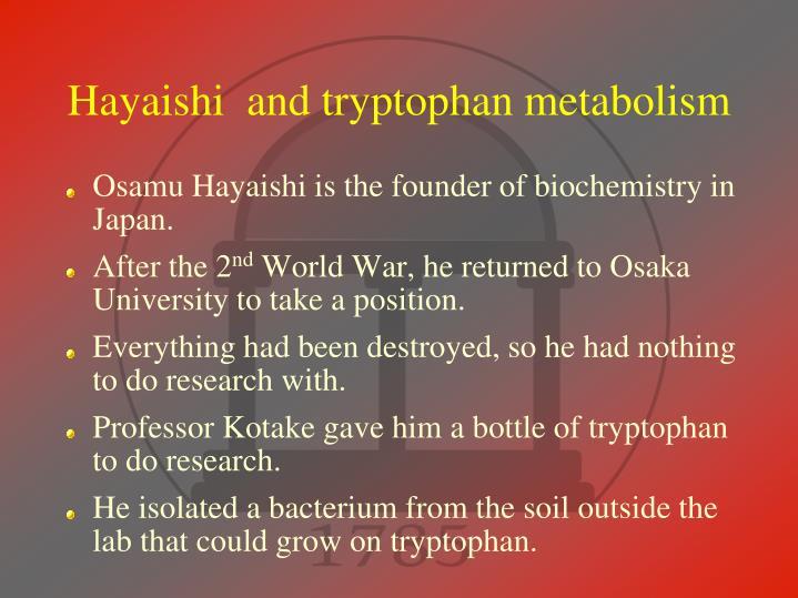 Hayaishi  and tryptophan metabolism