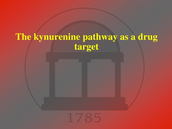 the kynurenine pathway as a drug target