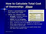how to calculate total cost of ownership steps