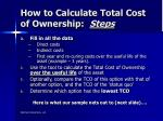 how to calculate total cost of ownership steps2
