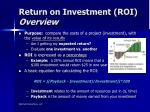 return on investment roi overview