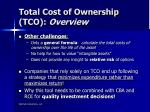 total cost of ownership tco overview2