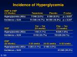 incidence of hyperglycemia