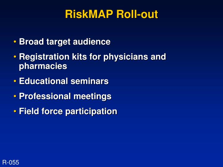 RiskMAP Roll-out
