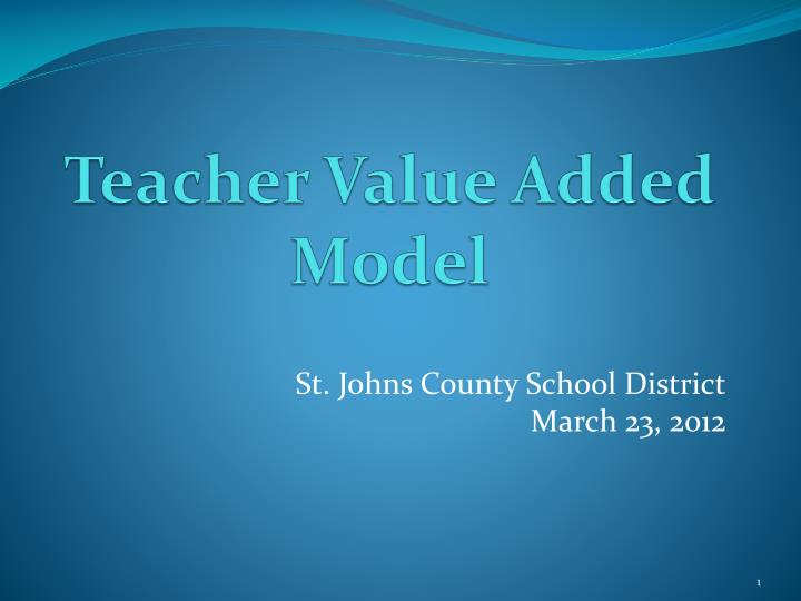 Teacher value added model