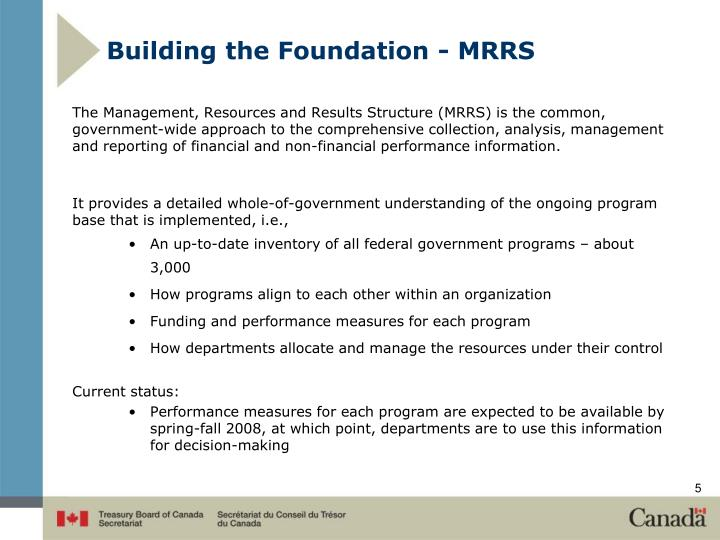 Building the Foundation - MRRS