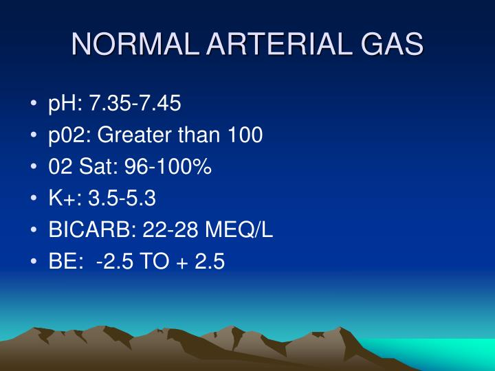 NORMAL ARTERIAL GAS