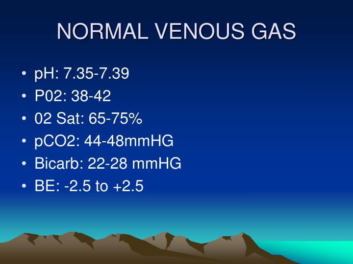 NORMAL VENOUS GAS