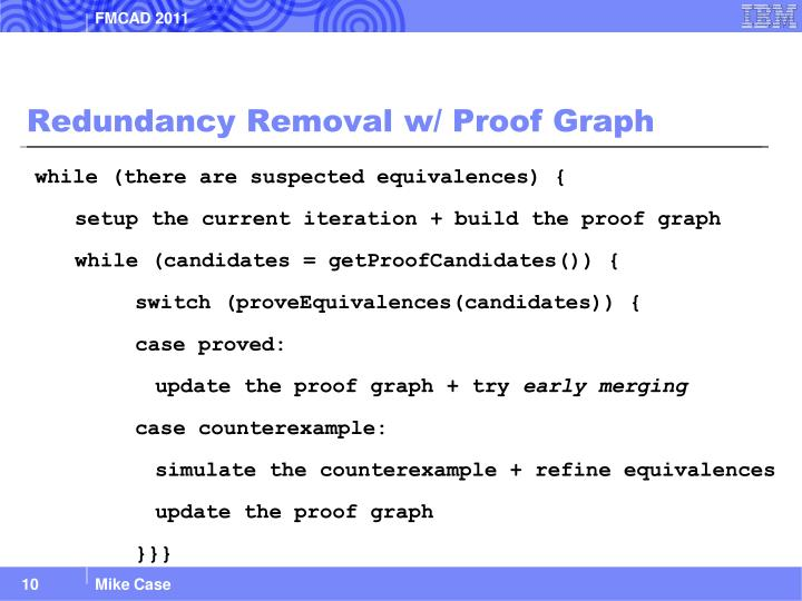 Redundancy Removal w/ Proof Graph