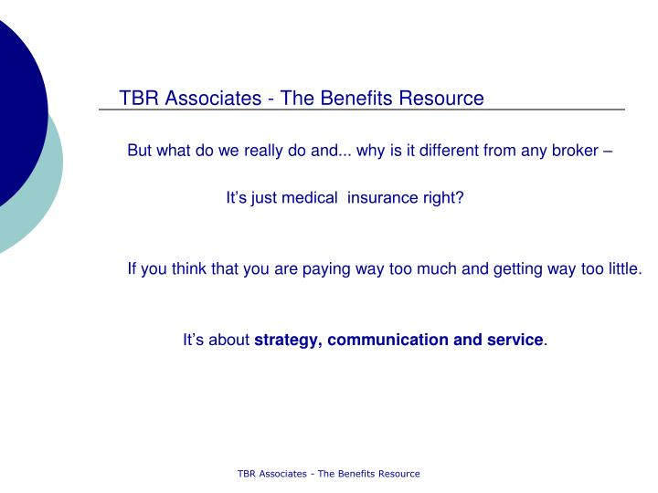 TBR Associates - The Benefits Resource
