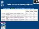 selection of scales variables 2