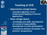 teaching of cce1