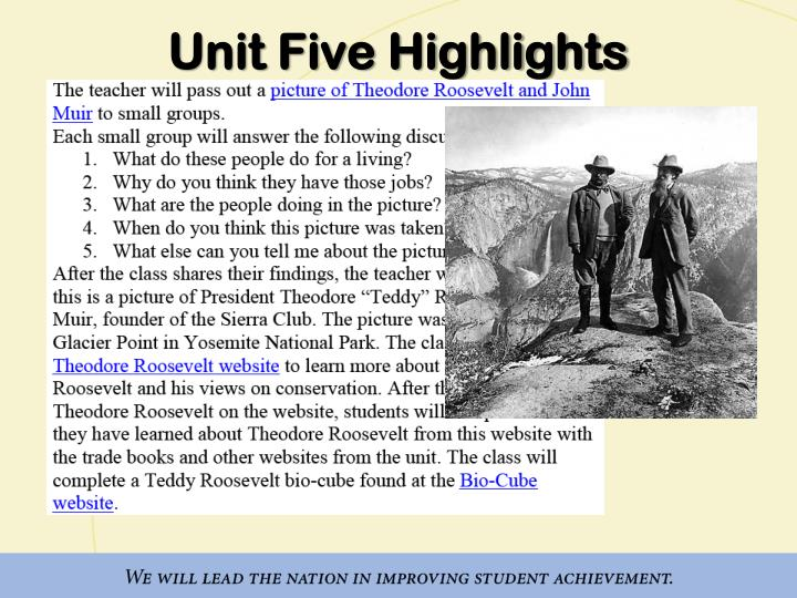 Unit Five Highlights