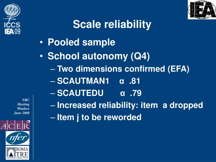 Scale reliability
