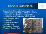 harvard blackstone
