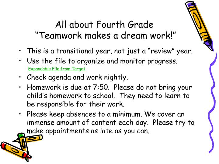 All about Fourth Grade